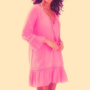 Lilly Pulitzer Talullah Tassel Hot Pink Cover Up